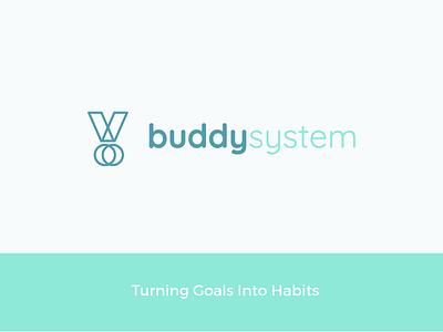 Buddy System App teamwork habits goals logo icon app