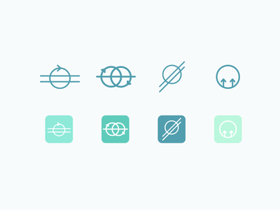 Buddy System Icons teamwork habits goals logo icon app