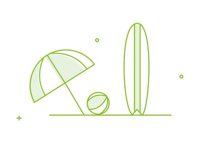 Beach surfboard beach fintech