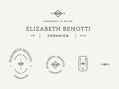 Ceramics Brand Exploration stamp squares alternative mark logo