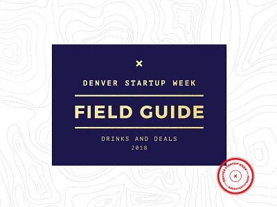 Denver Startup Week Field Guide stamp topo field guide