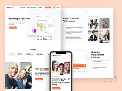 B2B Marketing Website Redesign responsive design b2b webdesign visual design uxui ux website redesign web