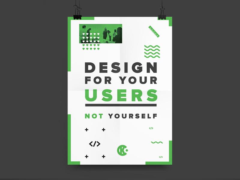 UX Poster design print ux uxd poster
