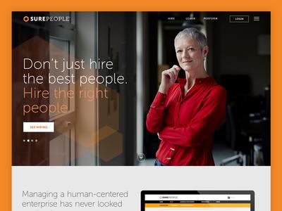 Surepeople Website Design b2b homepage web