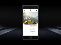 Porsche Microsite Mobile Experience