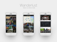 Wanderlust Mobile App Designs