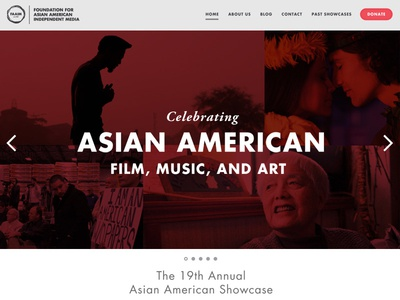 2014 FAAIM Chicago Asian American Film Festival Website homepage web nonprofit