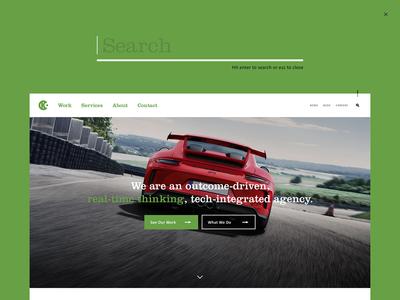 C-K website search push-down design search bar web ux