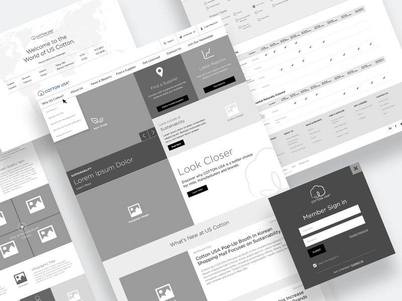 Cotton USA Website Wireframes by Won J  You on Dribbble