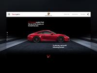 Porsche: Time to Get In Marketing Site Desktop