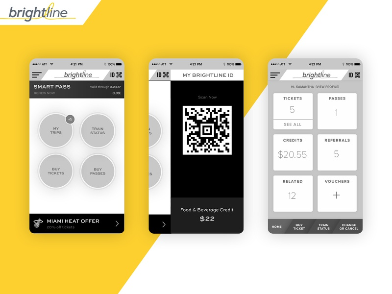 Brightline train mobile app wireframes uidesign ux  ui wireframes design ux mobile app mobile mcommerce transportation train express train