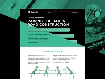 Dowel Bar Construction Website Design b2b equipment road construction design web