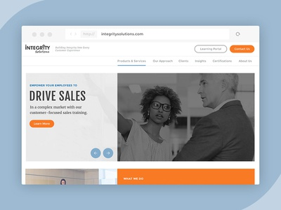 Professional Sales Training Company Website concept website design style design b2b web