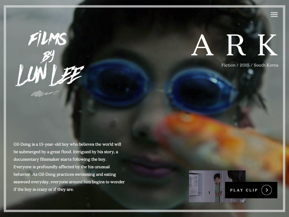 Filmmaker Website Design by Won J  You on Dribbble