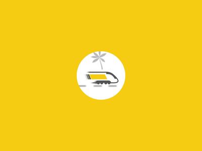 Train Loader Animation Loop sunny train illustration animation loop animation website loop loader