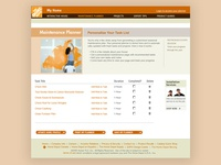 Home Depot Maintenance Planner Design