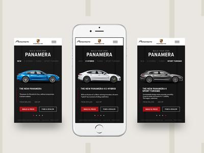 Build Your Own Panamera Car Carousel sportscar carousel ux designer mobile website ux ui design ux car mobile web mobile web design