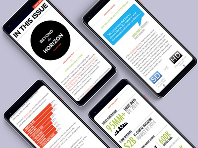 Discovery Innovation Insights Report web infographics mobile newsletter design newsletter design insights mobile report newsletter design