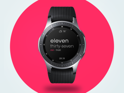 Typographic Samsung Galaxy Watch Face