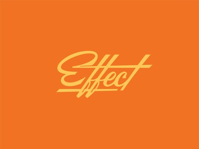 Cause & wordmark logo illustration handlettering clean sharp script italic retro typography lettering effect