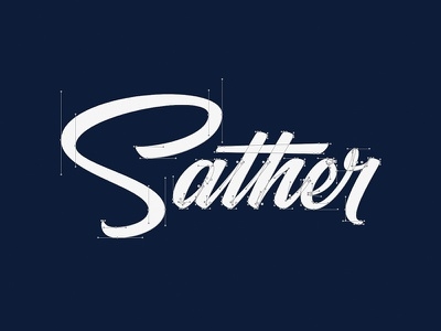 Sather Beziers vector handles bezier typography handlettering logo identity quality brand name