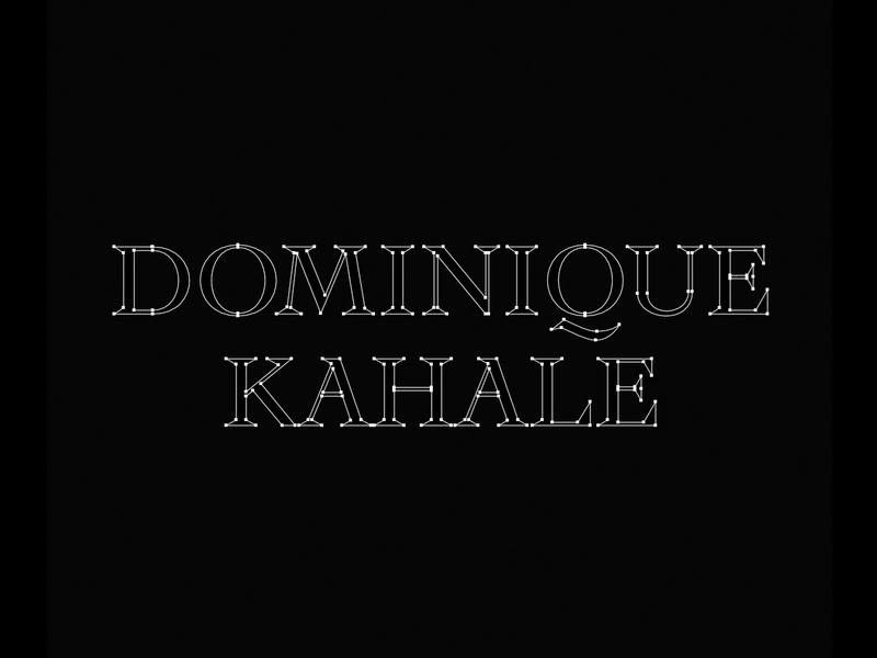 Dominique Kahale q sharp serif modern identity branding logo boudoir black photographer wedding