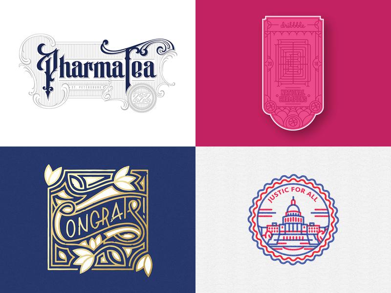 2018 In Review!! top4shots vector illustration handlettering type branding identity icon wordmark badge lettering typography logo