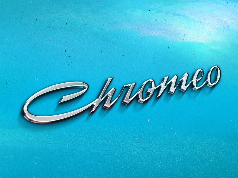 Chromeo car mockup design vector type branding identity wordmark illustration handlettering lettering typography logo