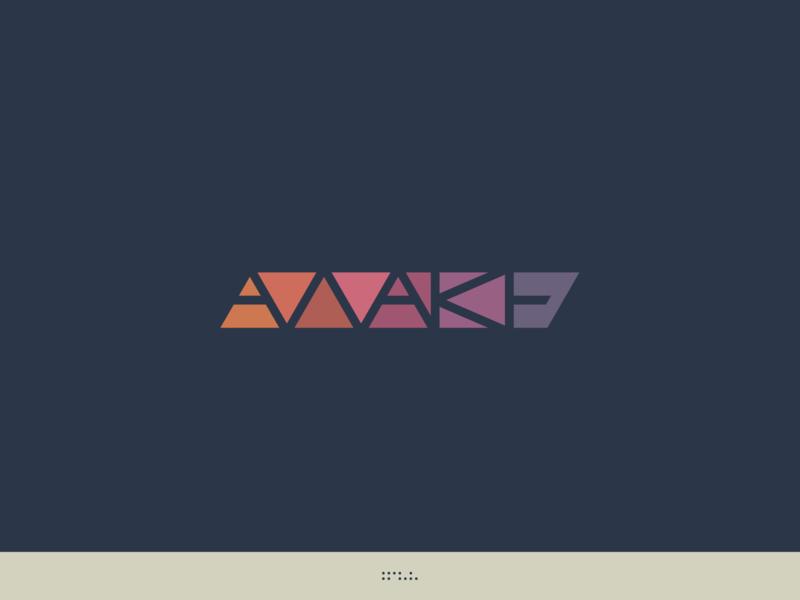 Awake - Tycho edm idm music tycho sanserif dreamy color stainedglass glass vector type branding identity illustration wordmark handlettering lettering typography logo