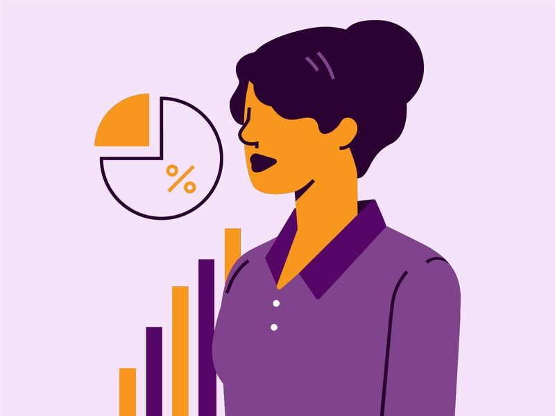 Executive Persona executive female character business illustration icon