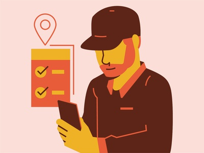 Mobile Workforce illustration icon