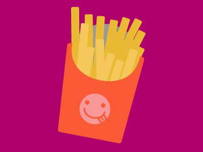 Fries icon french fries