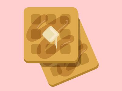 Waffles icon food waffles
