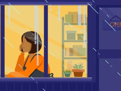 Rainy Day illustration vector rain