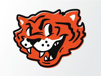 Tiger Guy illustration cartoon varsity mascot tiger