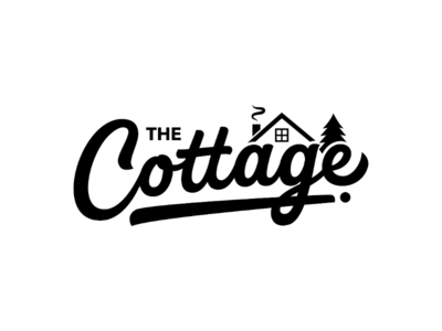 The Cottage unique letteringartist calligraphy graphicdesign logodesign logos barn typematters goodtype customtypography customfont customtype portfolio branding vector logotype handlettering lettering typography