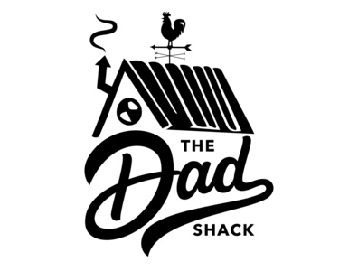 The Dad Shack logodesign logos apparel logo handdrawntype customtype custom lettering shack teespring clothing brand dady tshirt lettering logo vector custom handlettering logotype portfolio creative hand drawn lettering typography