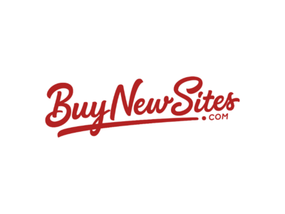 BuyNewSites.com customlogo startuplogo brandlogo websitelogo calligraphy letteringartist handdrawntype vector portfolio logos graphicdesign design etsy typography lettering handlettering handdrawn logo type
