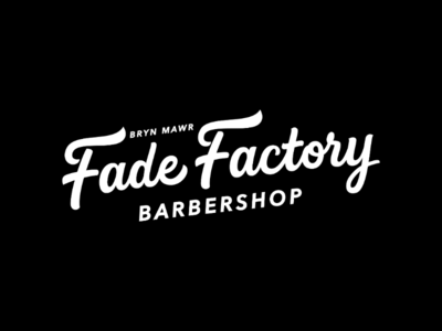 Fade Factory logotype lettering and calligraphy barbershoplogo vector portfolio behance customdesign creative handlettering letterer letteringdaily handtypography handdrawn customlogo typographylogo typography logodesign logos logo barbershop