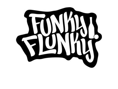 FUNKY FLUNKY typematters goodtype handdrawn type funky adobe illustrator illustration custom vector handlettering logotype portfolio creative hand drawn lettering typography urban art