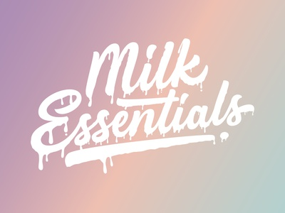 Milk Essentials modern calligraphy calligraphy logo lettering artist custom lettering custom type text effects unique logo clothinglogo clothing design clothing label lettering logo hand lettering custom handlettering logotype portfolio creative hand drawn lettering typography