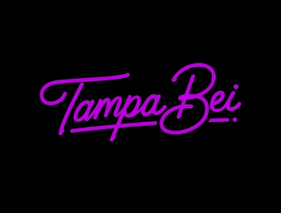 Tampa Bei behance business logo typematters monoline logo calligraphy and lettering artist type design goodtype logo design neon custom lettering creative custom calligraphy logodesigner logotype handlettering portfolio hand drawn lettering typography