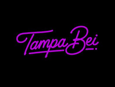 Tampa Bei behance business logo typematters monoline logo calligraphy and lettering artist type design goodtype logo design neon custom lettering creative custom calligraphy logodesigner logotype handlettering portfolio hand drawn lettering typography