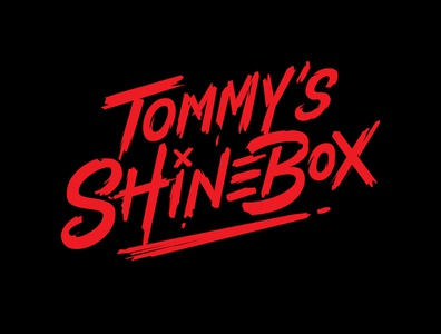 TOMMYS SHINEBOX logotype designer lettering artist typematters goodtype hand typography logo design rapper musician dry brush adobe illustrator custom lettering hand lettering custom vector logotype portfolio creative hand drawn lettering typography