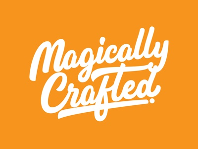 magically crafted procreate unique logo creative logo greeting cards craft lettering artist behance goodtype customtypography lettering logo logodesigner hand lettering calligraphy custom handlettering portfolio creative hand drawn lettering typography