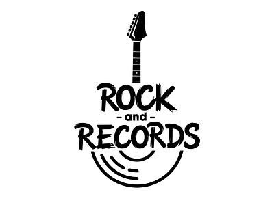 Rock and Records guitar logo vinyl entertainment brush lettering typematters goodtype lettering logo custom lettering music logo rock and roll portfolio custom logodesigner illustration logotype handlettering creative hand drawn lettering typography