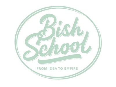 Bish School logos vintage logo circle logo brand identity digital art behance handmade brush lettering emblem logo school logo lettering artist vector hand lettering custom logotype portfolio creative hand drawn lettering typography