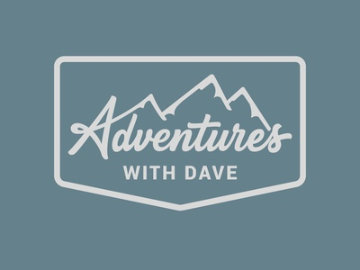 Adventures With Dave logodesignersclub creativelogo logoinspirations typematters goodtype behance project letteringartist mountain logo adventure logo custom lettering logotype handlettering custom vector portfolio creative hand drawn lettering typography adventures