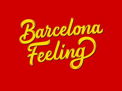 Barcelona Feeling goodtype custom typography custom logo custom type lettering art food lettering restaurant logo barcelona  typeface logo logodesigner logotype handlettering 3d art vector hand drawn creative portfolio barcelona typography lettering