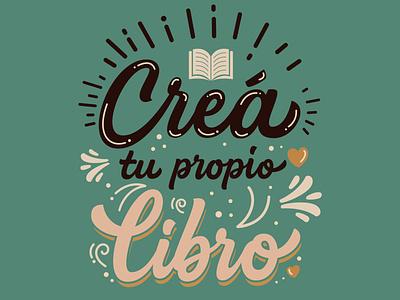 Crea tu propio Libro hand lettering book cover design design handtype type logo logotype typography customtype casual lettering